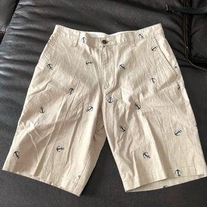 NWT Dockers shorts light tan w/blue anchors